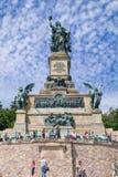 Monument aan de eenmaking van Duitsland en het eind van de franco-Pruisische oorlog - Ruedesheim am Rijn, Hesse, Kiem Stock Afbeelding