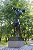 Monument aan de Elanden in Vyborg Royalty-vrije Stock Fotografie