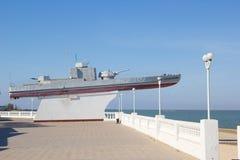 Monument aan de gepantserde boot van de vloot van Azov royalty-vrije stock fotografie