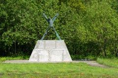 Monument aan de Heilige Apostel Andrew eerste-Geroepen royalty-vrije stock fotografie