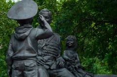 monument aan de held stock fotografie