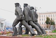 Monument aan de helden van de Volga Vloot royalty-vrije stock afbeelding