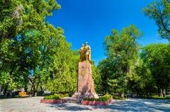 Monument aan de helden van Komsomol in Bishkek - Kyrgyzstan royalty-vrije stock afbeelding