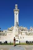 Monument aan de Hof van Cadiz, 1812 Grondwet, Andalusia, Spanje Royalty-vrije Stock Afbeeldingen