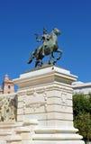 Monument aan de Hof van Cadiz, 1812 Grondwet, Andalusia, Spanje Stock Afbeeldingen
