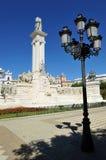 Monument aan de Hof van Cadiz, 1812 Grondwet, Andalusia, Spanje Royalty-vrije Stock Fotografie