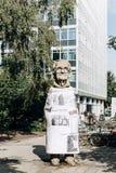 Monument aan de ingezetene van Muenster genoemd Paul Wolfe Hij wijdde zijn leven aan de strijd tegen Nazisme stock foto