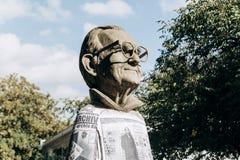 Monument aan de ingezetene van Muenster genoemd Paul Wolfe Hij wijdde zijn leven aan de strijd tegen Nazisme stock afbeelding