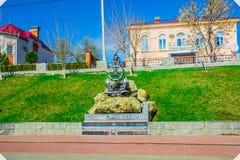 Monument aan de Ingezetenen, Rivermen en de Zeelieden van Kamyshan royalty-vrije stock afbeelding