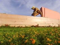 Monument aan de mijnwerker stock foto