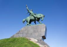 Monument aan de nationale held van Basjkirië aan Salavat Yulayev stock foto's