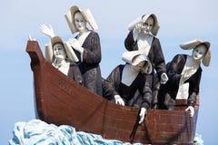 Monument aan de nonnen op de waterkant in Dumaguete, Filippijnen Royalty-vrije Stock Foto's