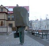 Monument aan de Onbekende Bureaucraat in Reykjavik stock foto's