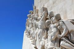Monument aan de Ontdekkingen in Belem, Lissabon, Portugal Lage hoek royalty-vrije stock fotografie