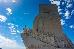 Monument aan de Ontdekkingen in Belem portugal stock foto