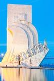 Monument aan de Ontdekkingen Lissabon Stock Afbeeldingen