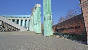 Monument aan de Opstand van Warshau stock video