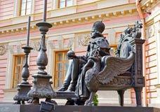 Monument aan de Russische keizer Paul de Eerste, St. Petersburg Royalty-vrije Stock Afbeeldingen