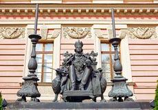 Monument aan de Russische keizer Paul de Eerste, St. Petersburg Royalty-vrije Stock Foto's