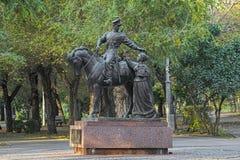 Monument aan de Russische Kozakken in Volgograd, Rusland royalty-vrije stock afbeeldingen