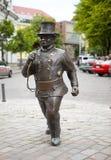 Monument aan de schoorsteenveger in de Oude stad op 16 Juni, 2012 in Tallinn, Estland Royalty-vrije Stock Foto