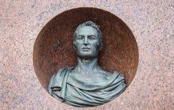 Monument aan de schrijver en de historicus Karamzin in Ulyanovsk royalty-vrije stock fotografie