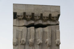 Monument aan de Slachtoffers van Fascisme in Krakau stock afbeeldingen