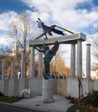 Monument aan de slachtoffers van het Duitse beroep Boedapest stock foto's