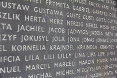 Monument aan de slachtoffers van het Nazi German-uitroeiingskamp, Belzec, Polen royalty-vrije stock foto's