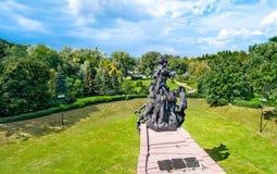 Monument aan de slachtoffers van Nazisme in Babi Yar Kiev, de Oekraïne stock afbeelding