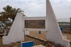 Monument aan de slachtoffers van de Pidjiguiti-Slachting dichtbij de Haven van Bissau, in de stad van Bissau, Guinea-Bissau royalty-vrije stock foto's