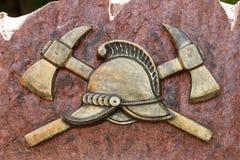 Monument aan de verloren mensen aan brandweerlieden stock afbeeldingen