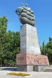 Monument aan Eerste Scheepsbouwers in Kherson, de Oekraïne stock afbeeldingen