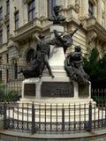 Monument aan Eugeniu Carada 1836-1910, stichter van National Bank van Roemenië, Stock Afbeelding