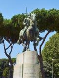 Monument aan George Castriot in Rome Lazio, Italië Stock Fotografie