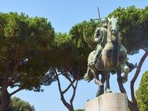 Monument aan George Castriot in Rome Lazio, Italië Royalty-vrije Stock Afbeeldingen