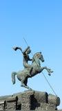 Monument aan George Zegevierende Shatterspear-serpentspear binnen Stock Afbeelding