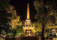 Monument aan Gevallen voor Spanje of Monumento los Caidos por Espana of Obelisco op Plaza DE La dat Lealtad wordt gevestigd madri royalty-vrije stock fotografie