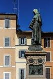 Monument aan Giordano Bruno royalty-vrije stock afbeelding