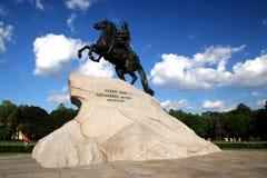 Monument aan Grote Peter. Royalty-vrije Stock Afbeeldingen