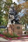 Monument aan het vierkant van Mikhail Shchepkin inTheater Belgorod Rusland stock fotografie