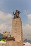Monument aan het zon-Scheenbeen van admiraalsYi in Seoel, Korea Stock Foto