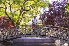 Monument aan Imre Nagy, Eerste minister in Boedapest, Hongarije Stock Fotografie