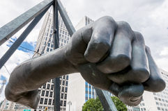 Monument aan Joe Louis Royalty-vrije Stock Afbeeldingen