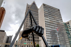 Monument aan Joe Louis Stock Afbeelding