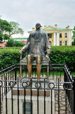 Monument aan keizer Peter The Great in de Peter en van Paul vesting in heilige-Petersburg, Rusland Stock Foto's