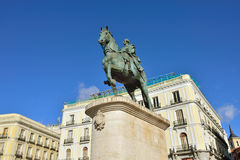 Monument aan Koning Carlos III stock afbeelding
