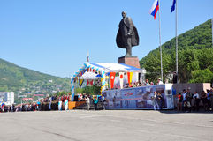 Monument aan Lenin Stock Foto
