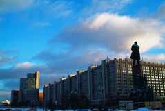 Monument aan Lenin in Moskou Stock Afbeelding
