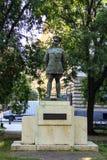 Monument aan Major General Harry Hill Bandholtz op Liberty Square, naast de Ambassade van de V.S. in Boedapest, Hongarije Stock Afbeeldingen